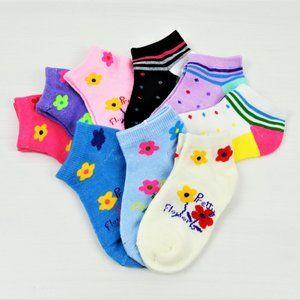 NWT 9-Pairs Girl's's Cotton Socks 1-3 YO